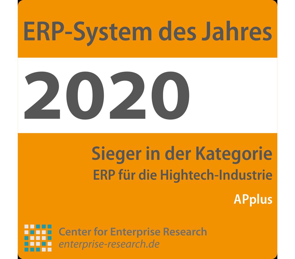 """Expertenjury kürt APplus zum """"ERP-System des Jahres"""" für die Hightech-Branche"""