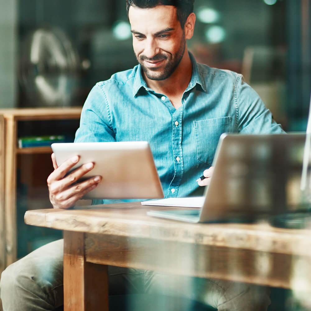 APplus ERP alle Funktionsbereiche über Tablet aufrufbar