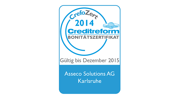Asseco Solutions awarded Creditreform certificate