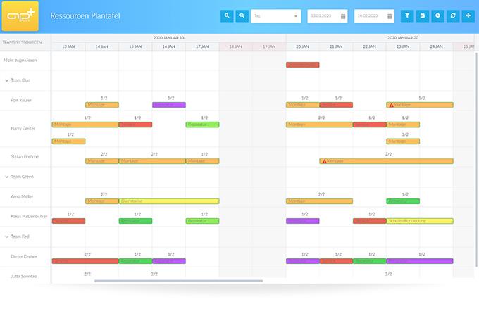 APplus bietet vielfältige Möglichkeiten zur effizienten Planung.