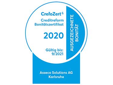 """""""Ausgezeichnete Bonität"""": Creditreform verlängert """"CrefoZert"""" der Asseco Solutions um weiteres Jahr"""