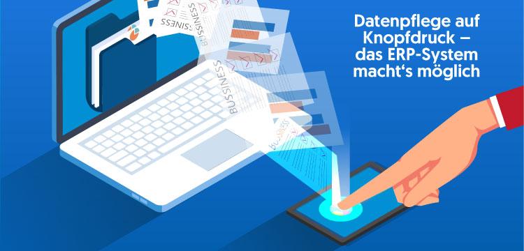 Datenpflege im ERP-System sichert den Unternehmenserfolg.